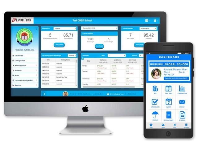 School App Dynamic Dashboard
